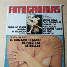Cinéma: REVISTA FOTOGRAMAS Nº 1440 INMA DE SANTIS JORGE GRAU ROBERT ALTMAN DESTAPE: SUSANA ESTRADA AGATA LYS. Lote 237179730