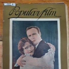 Cine: 39839 - REVISTA POPULAR FILM - Nº 58 - EN PORTADA LOIS MORAN Y ALLAN SIMPSON. Lote 237322405