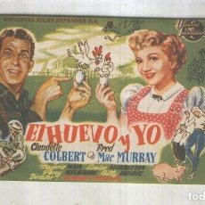 Cine: PROGRAMAS DE CINE: EL HUEVO Y YO. Lote 237417630