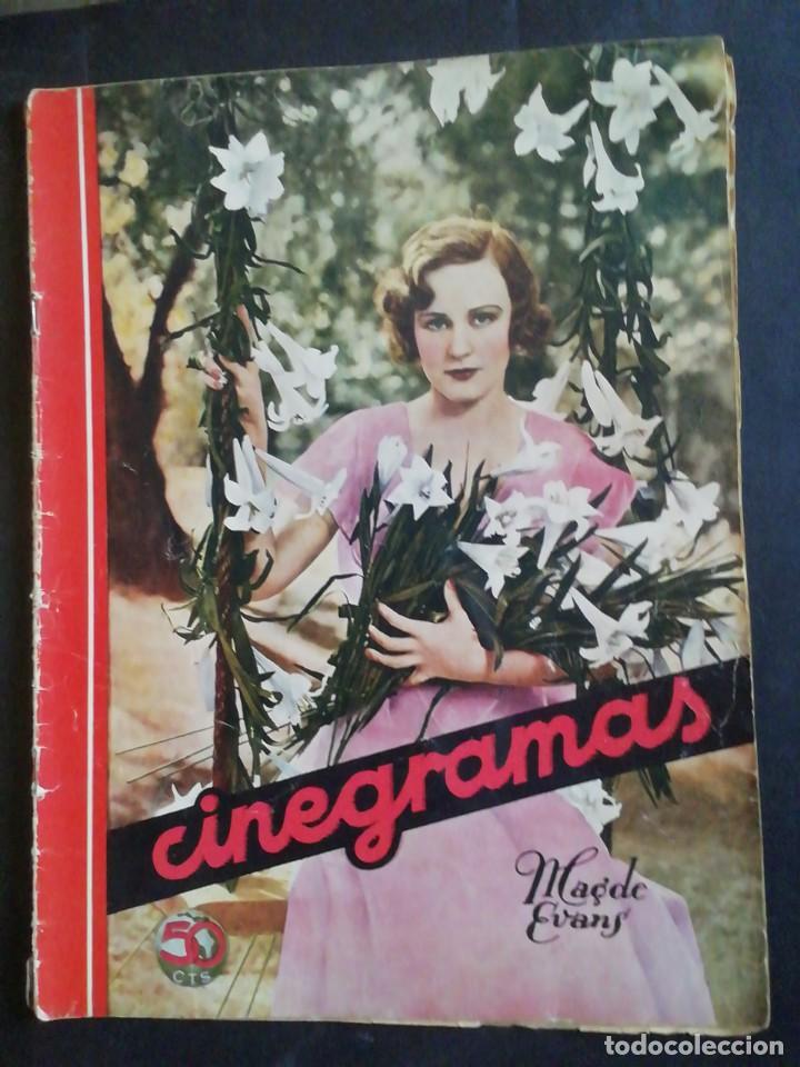CINEGRAMAS. REVISTA. 25 AGOSTO 1935. (Cine - Revistas - Cinegramas)