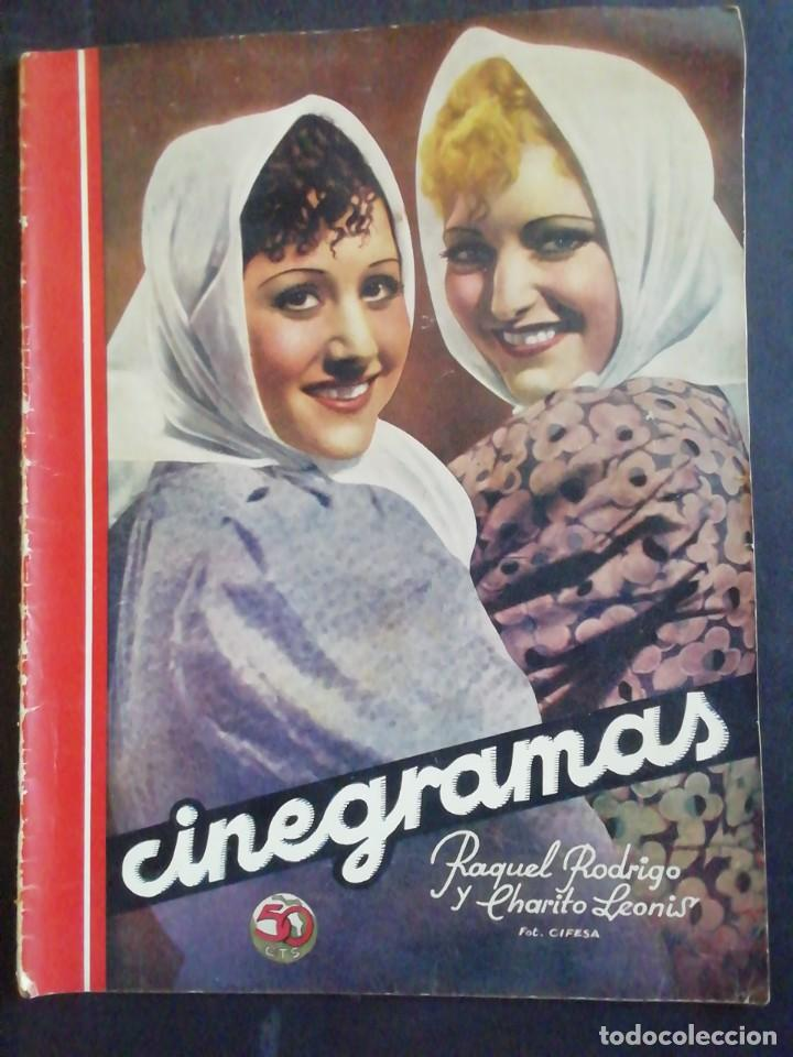 CINEGRAMAS. REVISTA. 21 JUNIO 1936 (Cine - Revistas - Cinegramas)