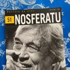 Cine: NOSFERATU REVISTA DE CINE Nº 51 JHON HUSTON. Lote 238594735