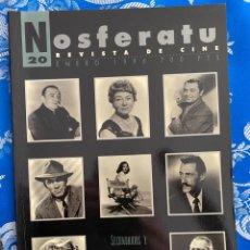 Cine: NOSFERATU REVISTA DE CINE Nº 20 SECUNDARIOS Y ANTAGONISTAS DEL HOLLYWOOD CLASICO. Lote 238598850