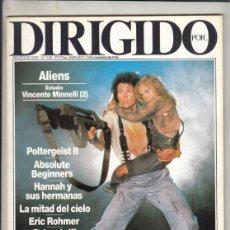 Cine: REVISTA DIRIGIDO POR Nº 140 AÑO 1986. ALIENS. POLTERGEIST II. CADIZ. 86. MANUEL GUTIÉRREZ ARAGÓN.. Lote 238634680