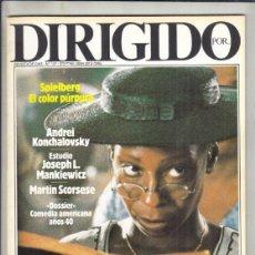 Cinema: REVISTA DIRIGIDO POR Nº 137 AÑO 1986. EL COLOR PÚRPURA. DOSSEIR COMEDIA AMERICA AÑOS 40. CANNES 86. Lote 238638510