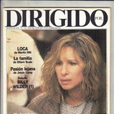 Cine: REVISTA DIRIGIDO POR Nº 155 AÑO 1988. LOCA. LA FAMILIA. PASION LEJANA. BILLY WILDER. ERNST LUBITSCH. Lote 238640395