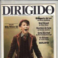 Cine: REVISTA DIRIGIDO POR Nº 156 NAÑO 1988. EL IMPERIO DEL SOL. WALL STREET. HECHIZO DE LUNA. A. TRAUNER.. Lote 238640885