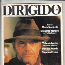 Cine: REVISTA DIRIGIDO POR Nº 158 AÑO 1988. MARIO MONICELLI. EL CUARTO HOMBRE. ALEXANDER MAXKENDRICK.. Lote 238644020