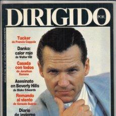 Cine: REVISTA DIRIGIDO POR Nº 162 AÑO 1988. TUCKER. DANKO: CALOR ROJO. ROMAN POANSKI. VENECIA 88.. Lote 238646945