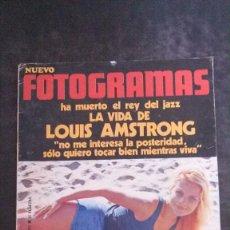 Cine: FOTOGRAMAS 1187-JENNY TAMBURINE-LOUIS ARMSTRONG-JULIE CHRISTIE-LEOPOLDO POMES-RINGO BEATLES. Lote 239558935