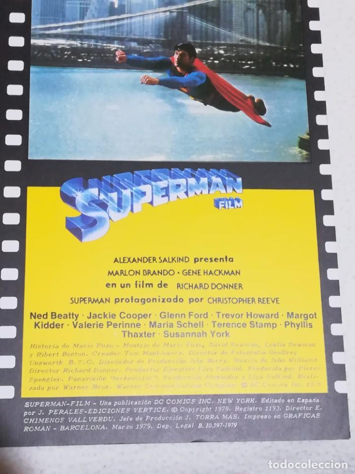 Cine: REVISTA MONOFRÁFICA SUPERMAN FILM - EDICIONES VÉRTICE - Foto 11 - 239664460