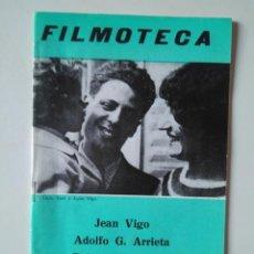 Cine: FILMOTECA. TEMPORADA 1972-73. NÚMERO 6. JEAN VIGO, ADOLFO G. ARRIETA, ROBERTO ROSSELLINI. Lote 239704905