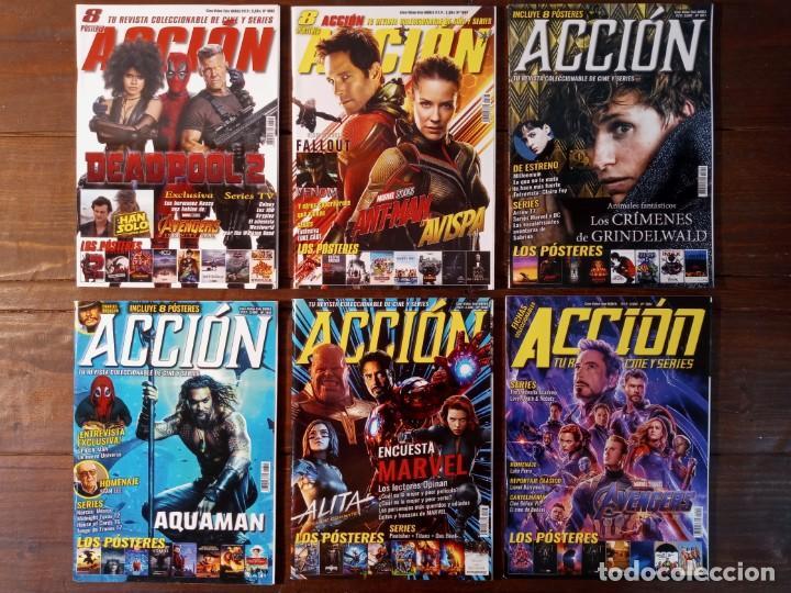 Cine: LOTE 22 NUMEROS REVISTA ACCION - NUEVAS (INCLUYE POSTERS, FICHAS COLECCIONABLES...) - Foto 4 - 239830860