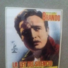 Cinema: LA LEY DEL SILENCIO. Lote 240093075