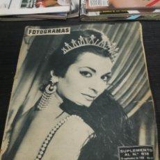 Cine: FOTOGRAMAS SUPLEMENTO Nº 618 ( 30 SEPT 1960 ) MIKAELA LA REINA DEL TABARIN MARILYN MONROE GARY GRANT. Lote 240100590