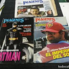 Cinema: LOTE 3 REVISTAS IMAGENES DE LA ACTUALIDAD Nº 50-57-73, BATMAN JAMES BOND, MICKEY ROURKE, SPIELBERG. Lote 240104415