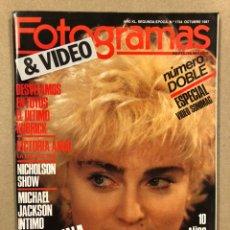 Cinema: FOTOGRAMAS N° 1734 (1987). MADONNA, VICTORIA ABRIL, MICHAEL JACKSON, LA GUERRA DE LAS GALAXIAS,.... Lote 240239410