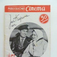 Cine: JAN KIEPURA EN EL CANTANTE DE VIENA. PUBLICACIONES CINEMA Nº 10. Lote 240383880