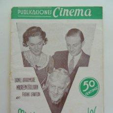 Cine: LIONEL BARRYMORE EN MUÑECAS INFERNALES. PUBLICACIONES CINEMA Nº 9. Lote 240384680