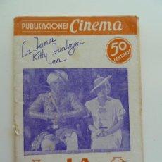 Cine: LA JANA Y KITTI JANTZEN EN LA TUMBA INDIA. PUBLICACIONES CINEMA Nº 8. Lote 240385195