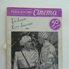 Cine: LA JANA Y KITTI JANTZEN EN EL TIGRE DE ESNAPUR. PUBLICACIONES CINEMA Nº 7. Lote 240385525