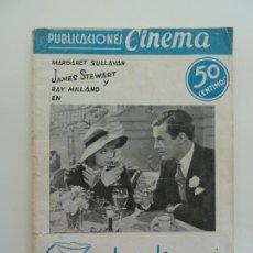 Cine: MARGARET SULLAVAN, JAMES STEWART. CUANDO VOLVAMOS A AMARNOS. PUBLICACIONES CINEMA Nº 6. Lote 240386005