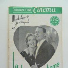 Cine: MARTHA EGGERTH Y JAN KIEPURA. LA VIDA DE LA BOHEME. PUBLICACIONES CINEMA Nº 4. Lote 240386490