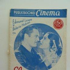 Cine: EDMUND LOWE EN EL GRAN IMPOSTOR PUBLICACIONES CINEMA Nº 3. Lote 240386655