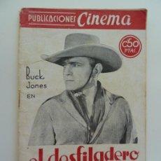 Cine: BUCK JONES EN EL DESFILADERO PERDIDO. PUBLICACIONES CINEMA Nº 2. Lote 240386780