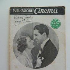 Cine: ROBERT TAYLOR EN SUBLIME OBSESIÓN. PUBLICACIONES CINEMA Nº 1. Lote 240387150