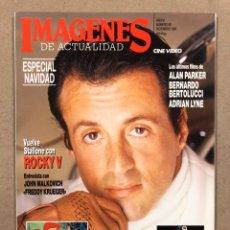 Cine: IMÁGENES DE ACTUALIDAD N° 88 (1990). INCLUYE PEGATINAS TORTUGAS NINJA, BERTOLUCCI, ROCKY,.... Lote 240491940