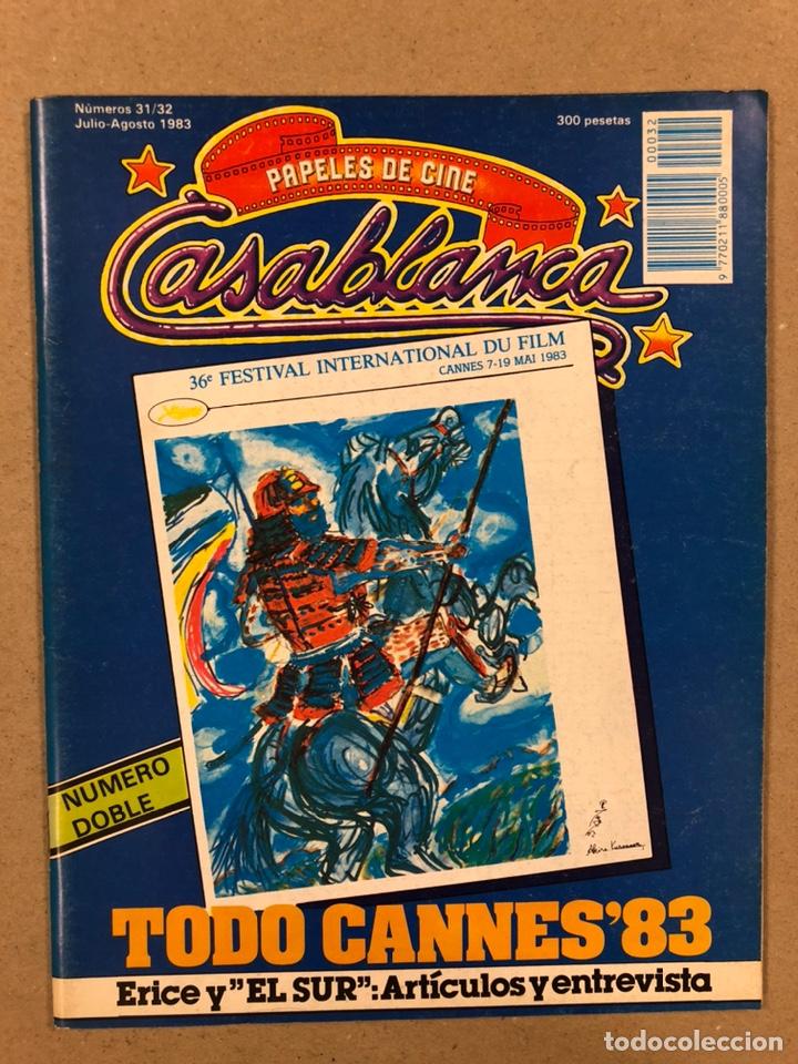 PAPELES DE CINE CASABLANCA N° 31-32 (1983). FESTIVAL CANNES '83, VICTOR ERICE,... (Cine - Revistas - Papeles de cine)