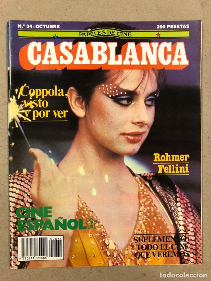 PAPELES DE CINE CASABLANCA N° 34 (1983). COPPOLA, ROHMER, FELLINI, CINE ESPAÑOL,... (Cine - Revistas - Papeles de cine)