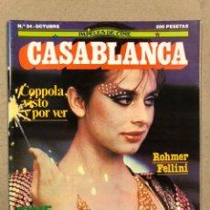 Cine: PAPELES DE CINE CASABLANCA N° 34 (1983). COPPOLA, ROHMER, FELLINI, CINE ESPAÑOL,.... Lote 240497425