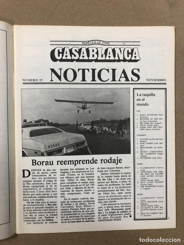 Cine: PAPELES DE CINE CASABLANCA N° 35 (1983). JOHN HUSTON, FESTIVAL DE VENECIA Y SAN SEBASTIÁN,... - Foto 2 - 240497880