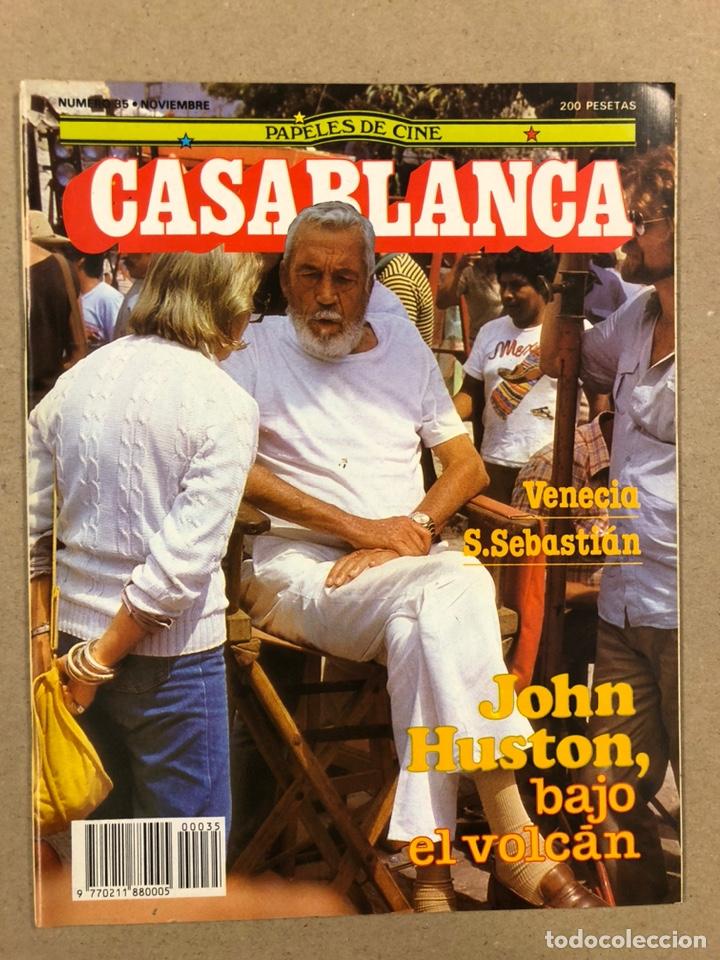 PAPELES DE CINE CASABLANCA N° 35 (1983). JOHN HUSTON, FESTIVAL DE VENECIA Y SAN SEBASTIÁN,... (Cine - Revistas - Papeles de cine)