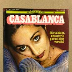 Cinema: PAPELES DE CINE CASABLANCA N° 36 (1983). SILVIA MUNT, PUBLICIDAD EL RETORNO DEL JEDI, MONTE HELLAMN,. Lote 240498770