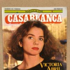 Cine: PAPELES DE CINE CASABLANCA N° 38 (1984). VICTORIA ABRIL, ANTOLOGÍA TRUFFAUT, HARVEY KEITEL,.... Lote 240500295