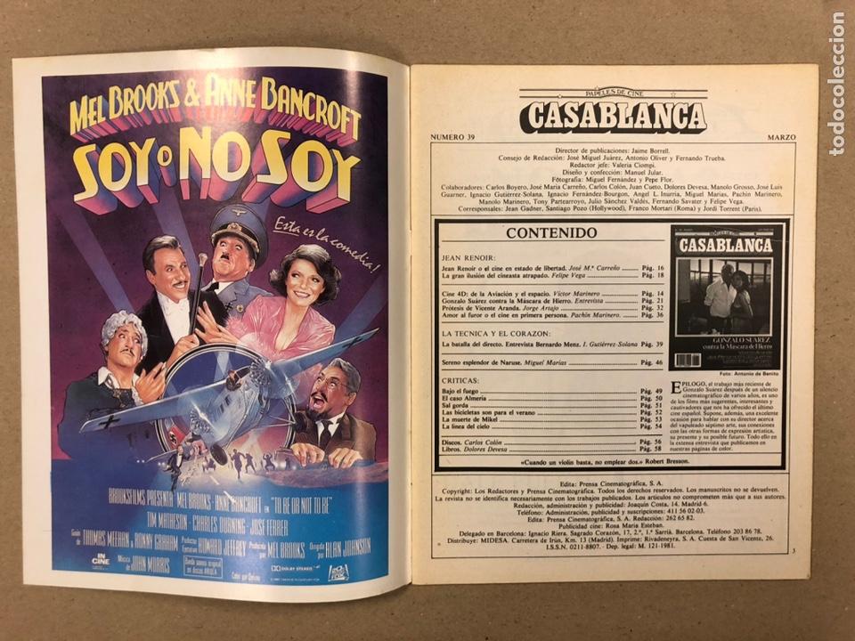 Cine: PAPELES DE CINE CASABLANCA N° 39 (1984). GONZALO SUÁREZ, VICENTE ARANDA, JEAN RENOIR,... - Foto 2 - 240500945