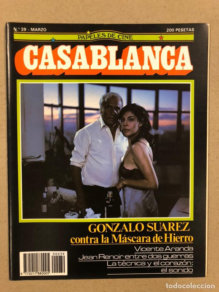 PAPELES DE CINE CASABLANCA N° 39 (1984). GONZALO SUÁREZ, VICENTE ARANDA, JEAN RENOIR,... (Cine - Revistas - Papeles de cine)