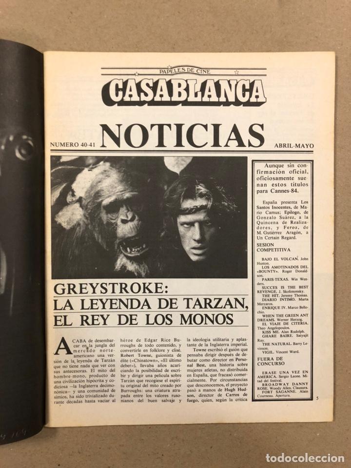 Cine: PAPELES DE CINE CASABLANCA N° 40 y 41 (1984). LOS SANTOS INOCENTES, HITCHCOCK, COPPOLA,... - Foto 2 - 240501510
