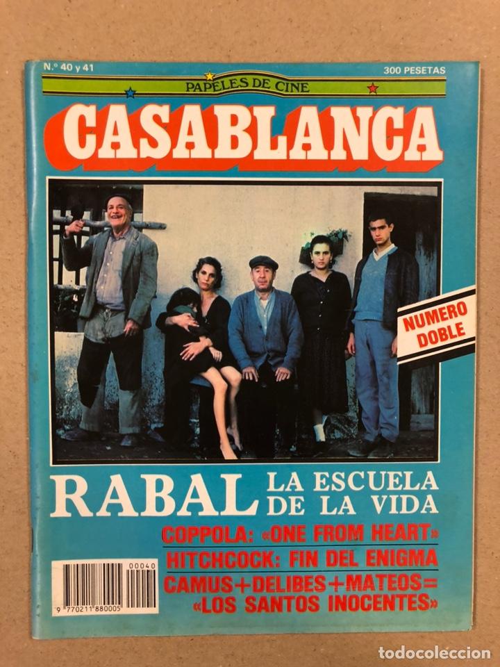 PAPELES DE CINE CASABLANCA N° 40 Y 41 (1984). LOS SANTOS INOCENTES, HITCHCOCK, COPPOLA,... (Cine - Revistas - Papeles de cine)