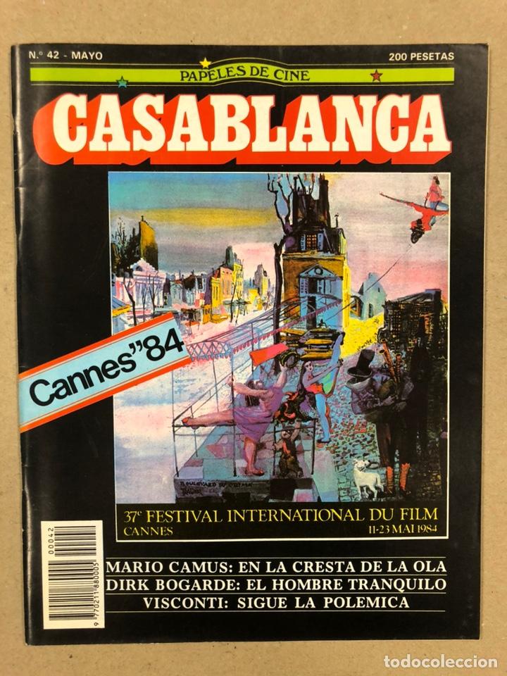 PAPELES DE CINE CASABLANCA N° 42 (1984). FESTIVAL CANNES '84, MARIO CAMUS, DIRK BOGARDE, VISCONTI,.. (Cine - Revistas - Papeles de cine)
