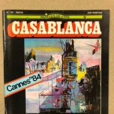 Cine: PAPELES DE CINE CASABLANCA N° 42 (1984). FESTIVAL CANNES '84, MARIO CAMUS, DIRK BOGARDE, VISCONTI,... Lote 240503520
