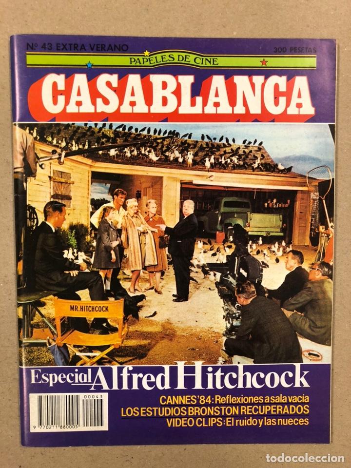 PAPELES DE CINE CASABLANCA N° 43 (1984). ESPECIAL ALFRED HITCHCOCK, CANNES '84,... (Cine - Revistas - Papeles de cine)