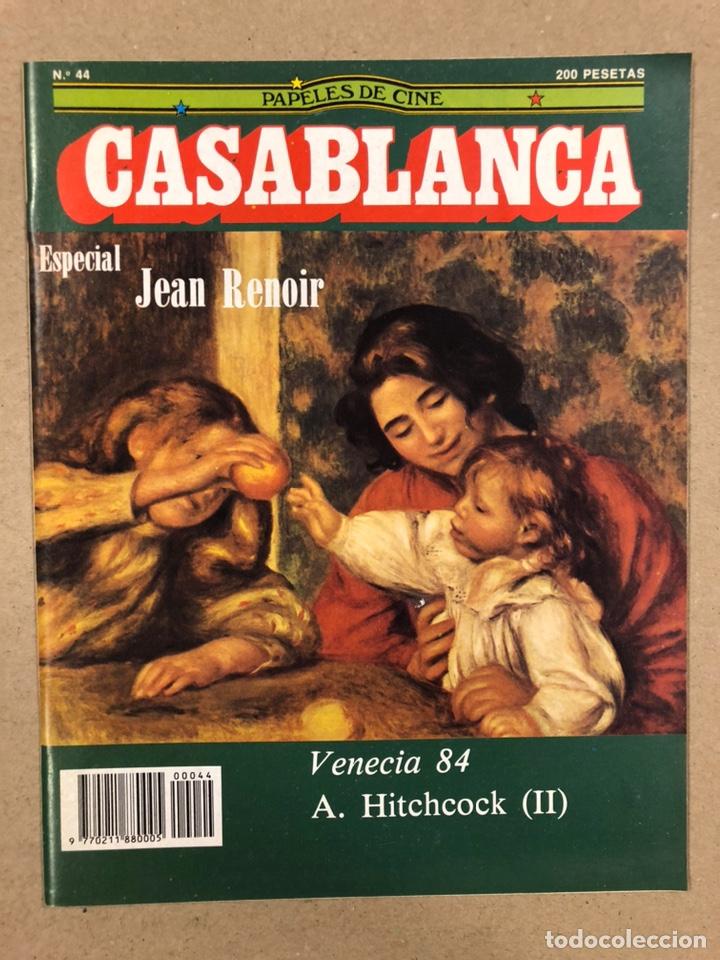 PAPELES DE CINE CASABLANCA N° 44 (1984). ESPECIAL ALFRED HITCHCOCK Y JEAN RENOIR, VENECIA '84,... (Cine - Revistas - Papeles de cine)