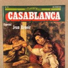 Cine: PAPELES DE CINE CASABLANCA N° 44 (1984). ESPECIAL ALFRED HITCHCOCK Y JEAN RENOIR, VENECIA '84,.... Lote 240504565