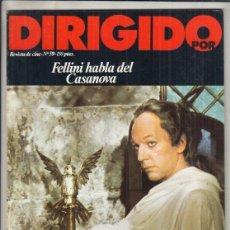 Cinema: REVISTA DIRIGIDO POR Nº 59 AÑO 1979. FELLINI HABLA DEL CASANOVA. ROBERT ALTMAN. FRANK CAPRA.. Lote 241272390