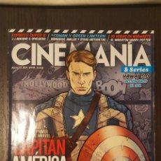 Cine: REVISTA - CINEMANÍA 191. AGOSTO 2011. CAPITAN AMÉRICA EN PORTADA - GREEN LANTERN, CONAN, TINTIN. Lote 241870935