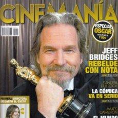 Cinema: SUPLEMENTO REVISTA CINEMANÍA Nº MARZO 2010. ESEPCIAL OSCAR. KATHRYN BIGELOW. JEFF BRIDGES.. Lote 241888490